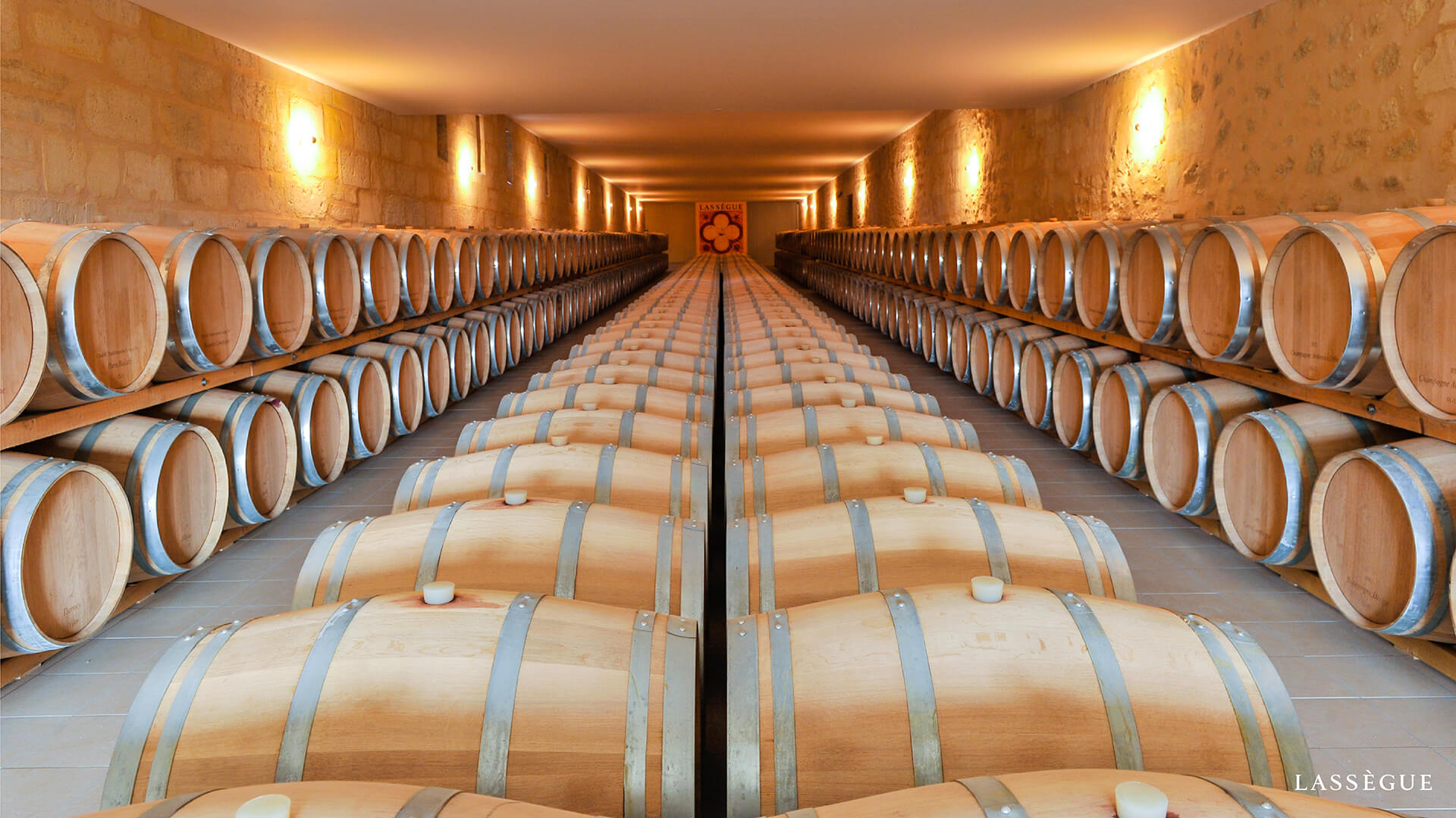 Image of Chateau Lassegue Barrel Room
