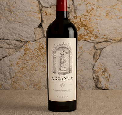 2013 Arcanum Red Wine label shot