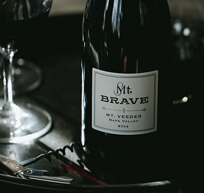 2015 Mt. Brave Syrah label shot