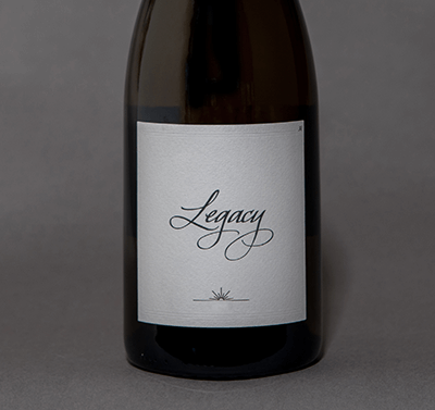 2016 Legacy Chardonnay label shot