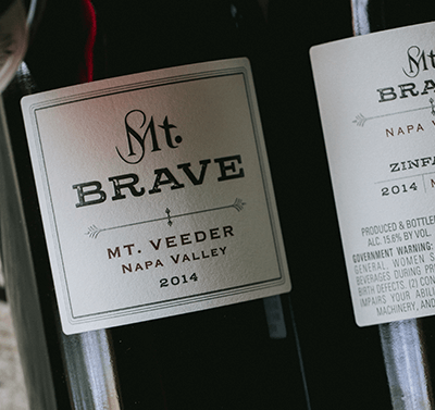 2016 Mt. Brave Zinfandel label shot
