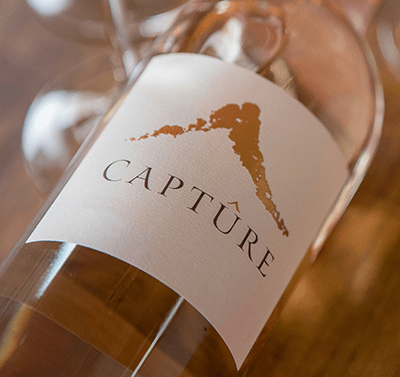2018 Captûre Rosé label shot